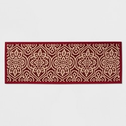 "60""x22"" Medallion Kitchen Runner Red - Threshold™"