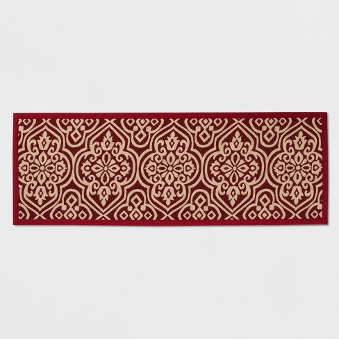 "Medallion Kitchen Runner 1'10""X5'' Red - Threshold™ - image 1 of 2"