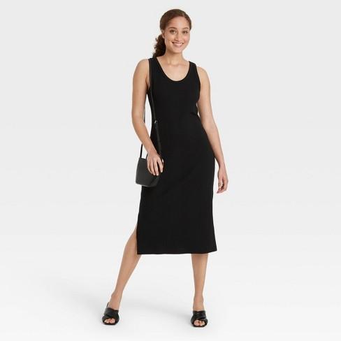 Women's Rib Knit Tank Dress - A New Day™ - image 1 of 3