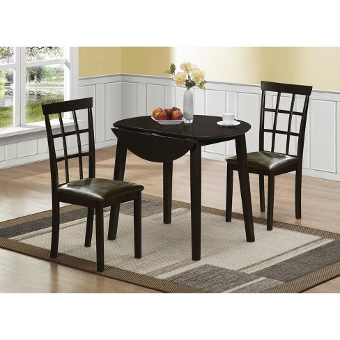 Helena 3pc Dining Set Black Home Source Industries