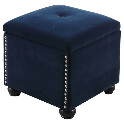 Terrific Storage Bench With Additional Seat 16 5 Navy Blue Ore International Pdpeps Interior Chair Design Pdpepsorg