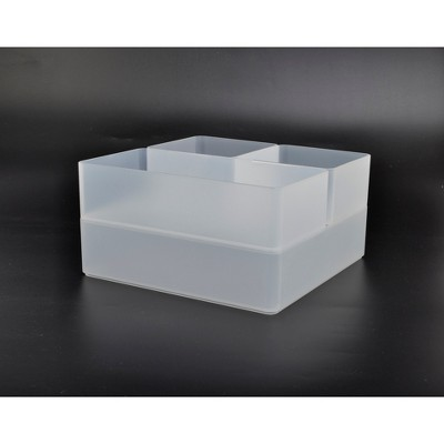 4pc Plastic Drawer Organizer Clear - Made By Design™