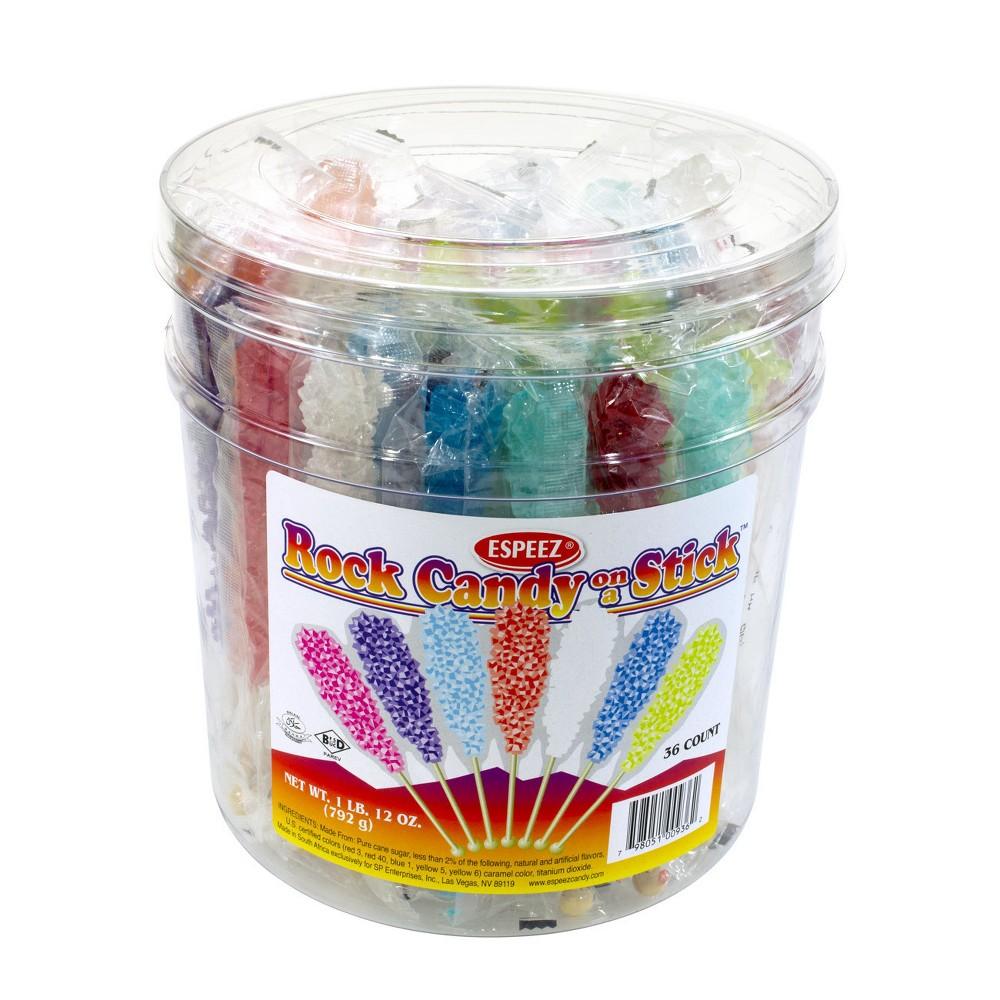 Espeez Assorted Flavors Rock Candy Sticks - 36ct