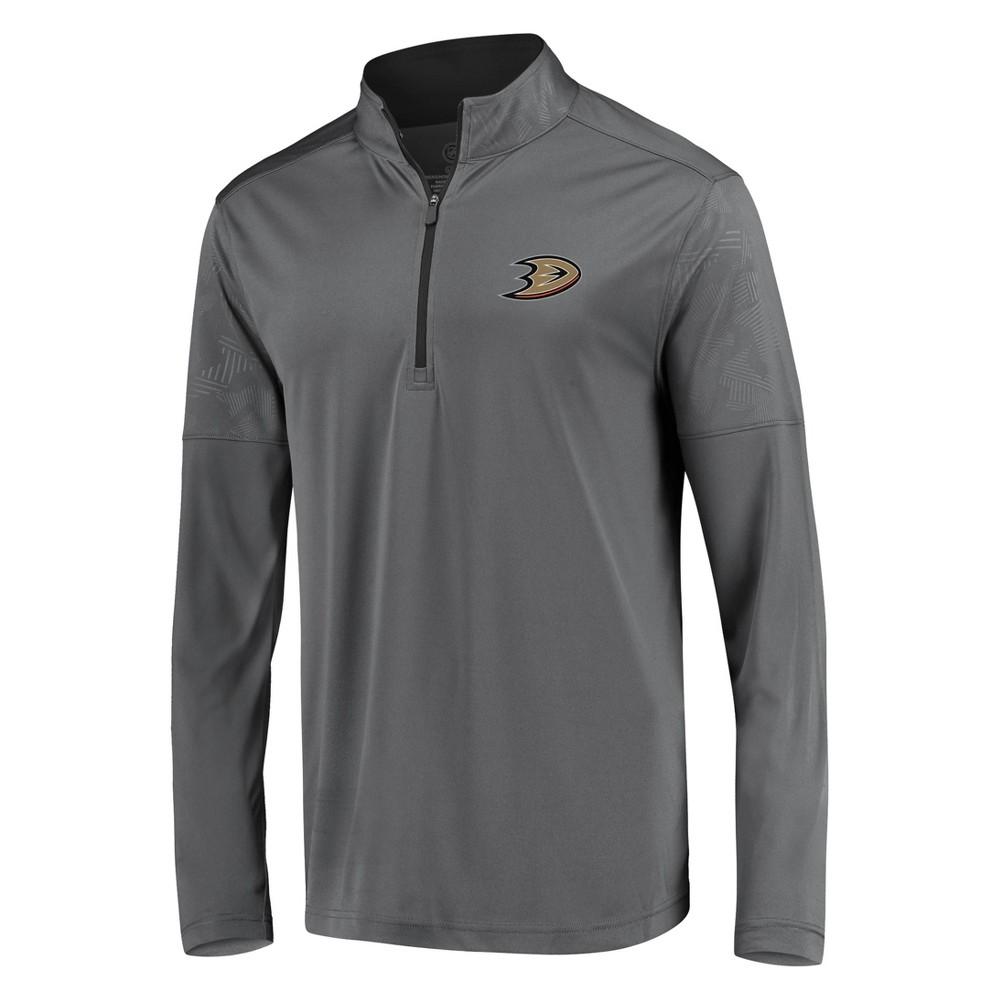 Nhl Anaheim Ducks Men 39 S Defender Embossed 1 4 Zip Sweatshirt Gray Xxl