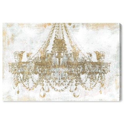 """10"""" x 15"""" Gold Diamonds Fashion and Glam Unframed Canvas Wall Art in Gold - Oliver Gal"""