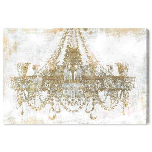 """10"""" x 15"""" Gold Diamonds Fashion and Glam Unframed Canvas Wall Art in Gold - Oliver Gal - image 1 of 4"""