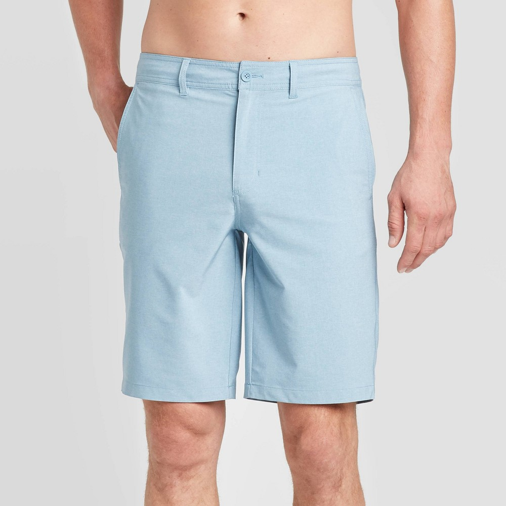 "Image of ""Men's 10.5"""" Rotary Hybrid Shorts - Goodfellow & Co Blue Dusk 28, Men's"""