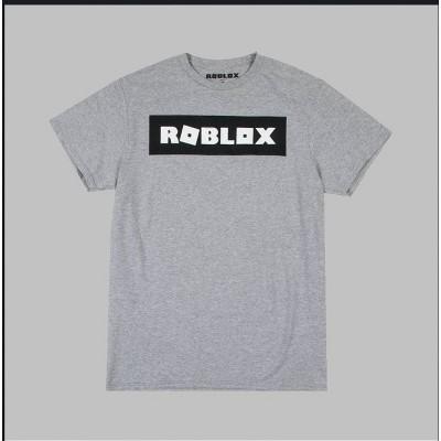 Men's Roblox Logo Short Sleeve T-Shirt - Gray