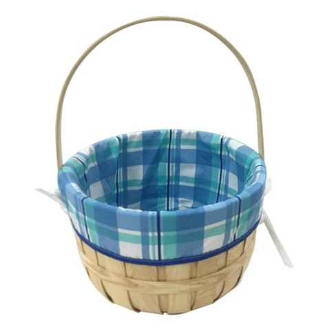Easter Chipwood Basket with Blue Liner - Spritz™ - image 1 of 1