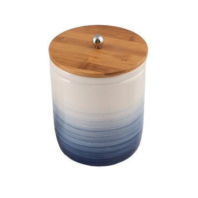 Ceramic Medium Ombre Canister with Wood Lid Blue - Thirstystone