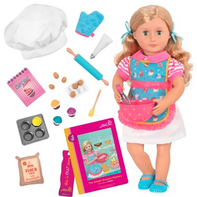 "Our Generation 18"" Posable Baking Doll with Storybook & Accessories - Jenny"