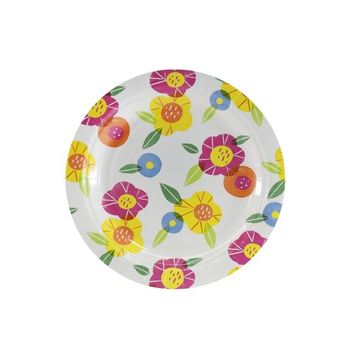 10ct Easter 7'' Paper Floral Dinner Plate - Spritz™ - image 1 of 1