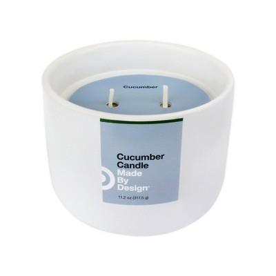 11.2oz Ceramic 2-Wick Candle Cucumber - Made By Design™