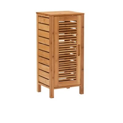 Bracken One-Door Floor Cabinet Natural - Linon