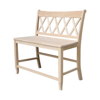 """24"""" Double X Back Bench Seat Height Unfinished - International Concepts"""