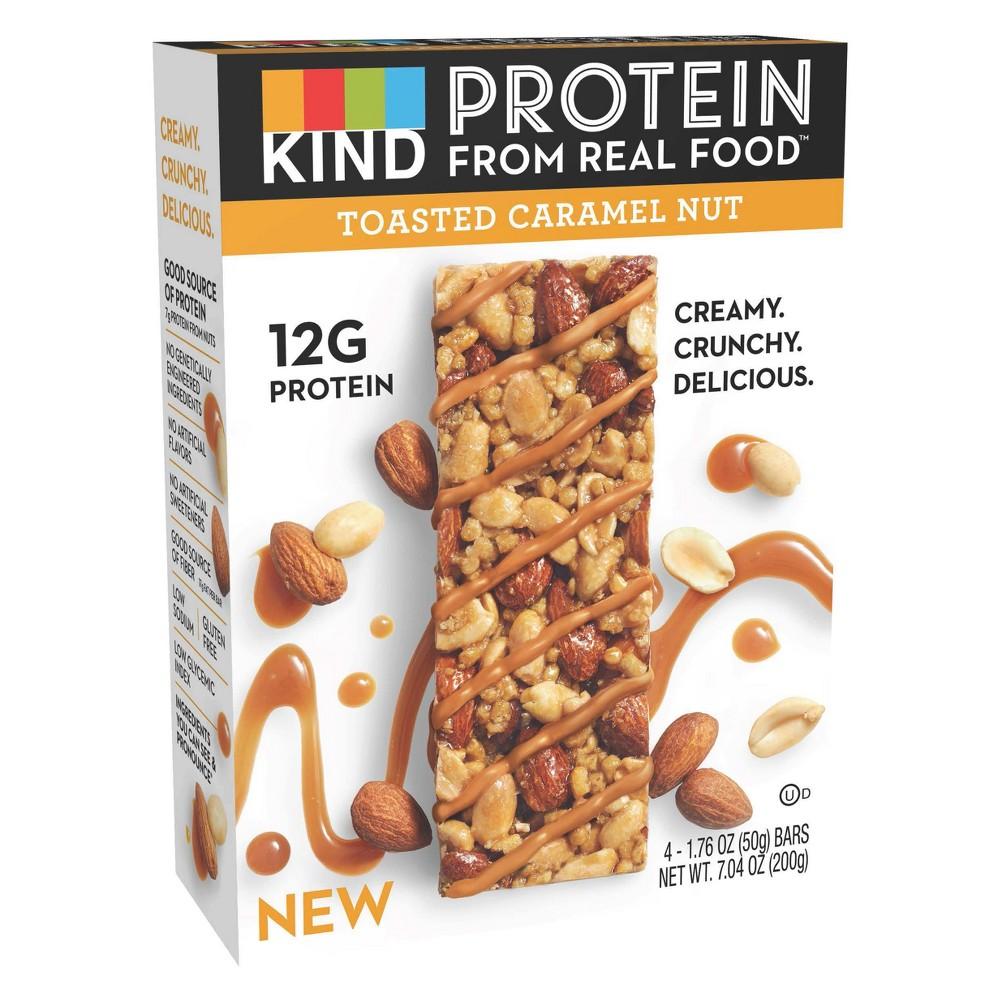KIND Protein Toasted Carmel Nut Nutrition Bars - 1.76oz/4ct