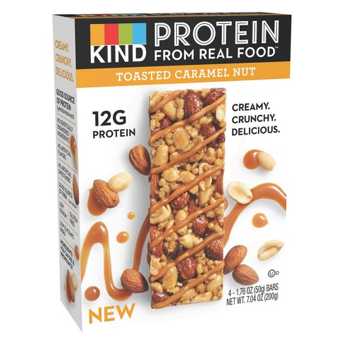 KIND Protein Toasted Carmel Nut Nutrition Bars - 1.76oz/4ct - image 1 of 3