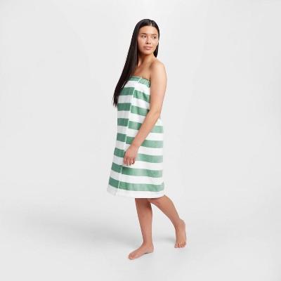Bath Body Wrap Green Stripe - Room Essentials™