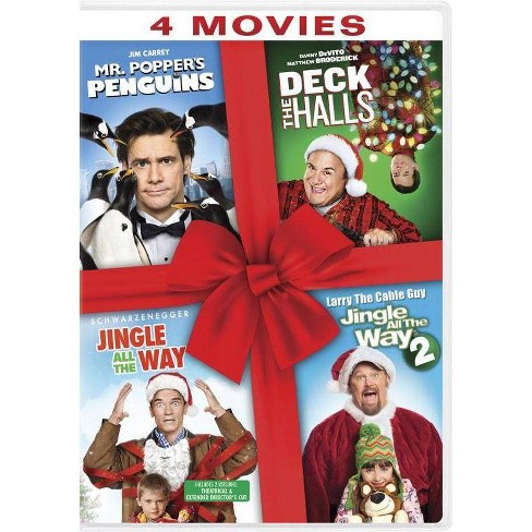 Mr. Popper's Penguins / Deck the Halls / Jingle All The Way / Jingle All The Way 2 (DVD) - image 1 of 1