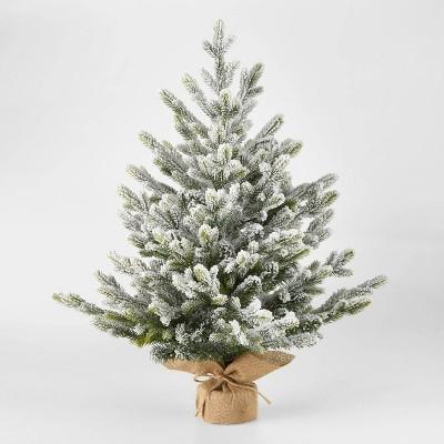 2.5ft Unlit Flocked Glittered Balsam Fir Potted Artificial Christmas Tree - Wondershop™