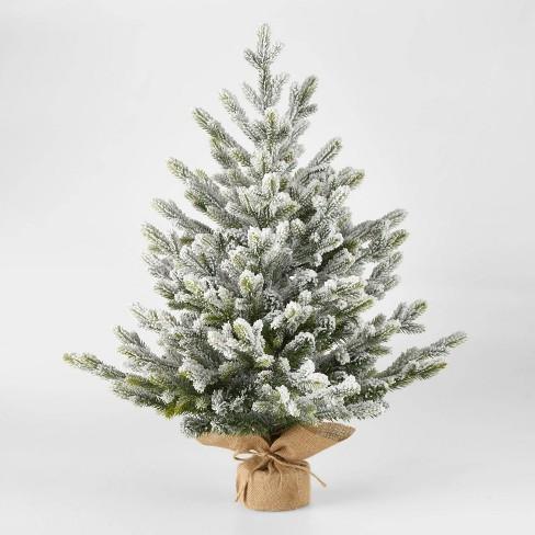 2.5ft Unlit Flocked Glittered Balsam Fir Potted Artificial Christmas Tree - Wondershop™ - image 1 of 2