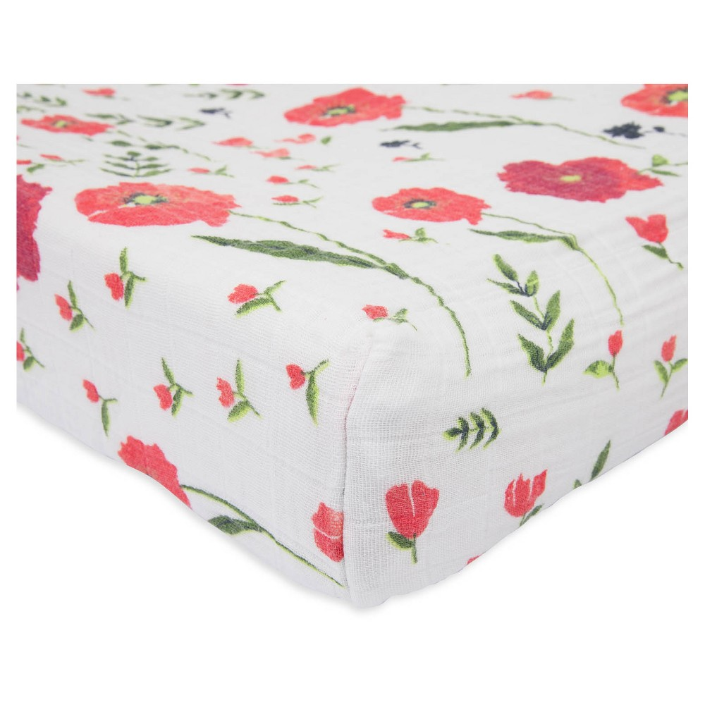 Little Unicorn Changing Pad Cover - Summer Poppy, Multi-Colored