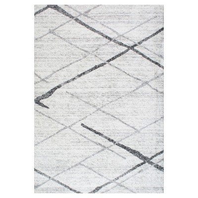 Gray Stripe Woven Area Rug - (5'x8')- nuLOOM