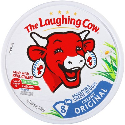 The Laughing Cow Original Creamy Swiss Spreadable Cheese Wedges - 6oz