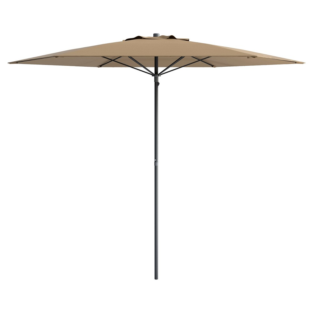 Image of 6' UV and Wind Resistant Beach/Patio Umbrella - Brown - CorLiving