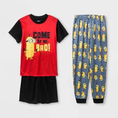 Boys' Minions 'Come At Me Bro!' 3pc Pajama Set - Black