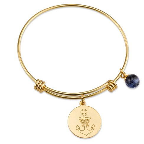 """Women's Stainless steel Strength expandable bracelet - gold (8"""") - image 1 of 2"""