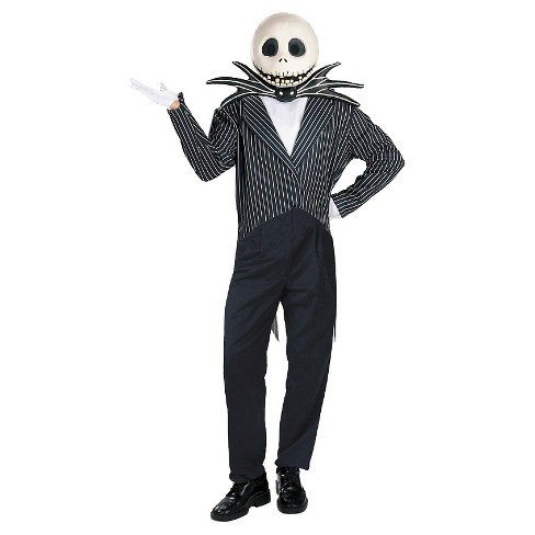 The Nightmare Before Christmas Jack Skellington Men's Deluxe Adult Costume One Size Fits Most - image 1 of 1