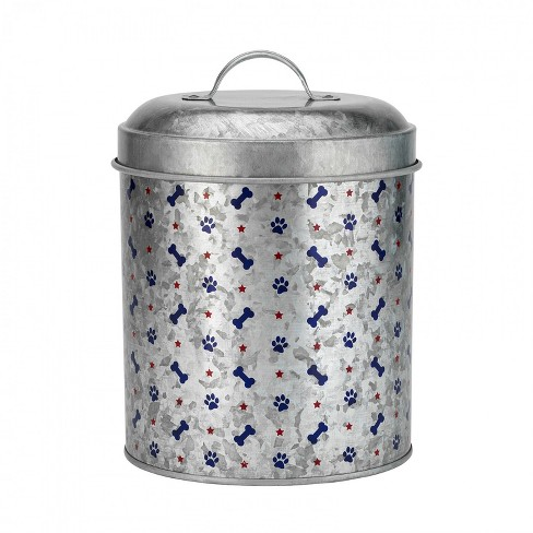 Amici Pet Americana Galvanized 110 oz Metal Treats Canister, Single Container - image 1 of 3