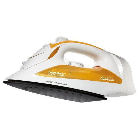 Sunbeam® Steam Master® Iron with Retractable Cord, White & Orange, GCSBCL-212-000 - image 1 of 4