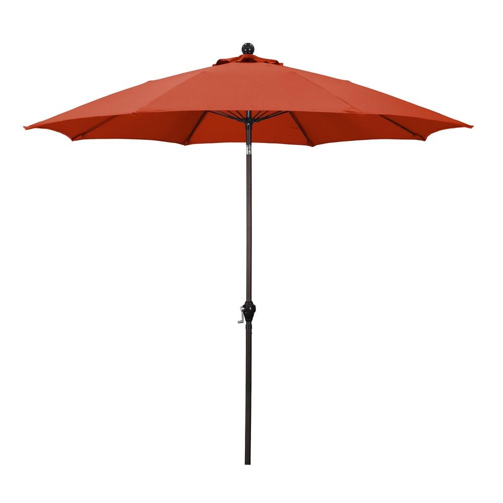 9 39 Aluminum Crank Lift Patio Umbrella Red Astella