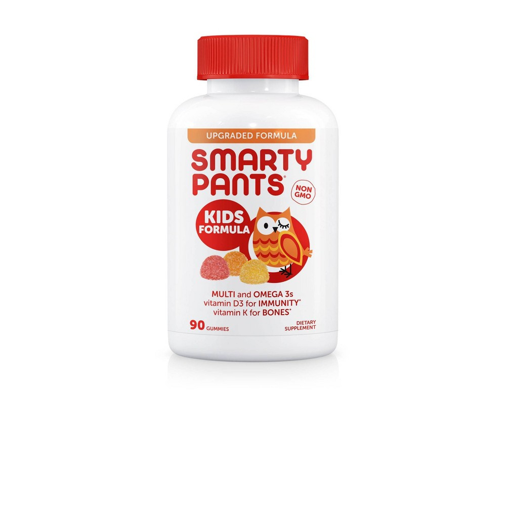 SmartyPants Kids Complete Multivitamin Gummies - Lemon, Orange & Strawberry Banana - 90ct, Kids Unisex
