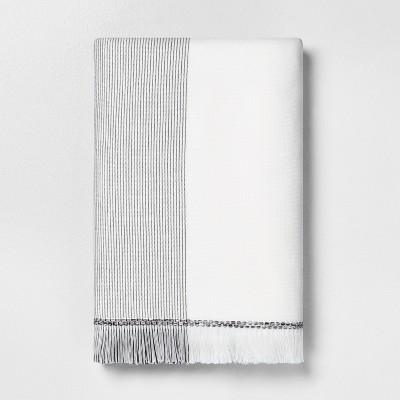 Bath Towel Microstripe Gray - Hearth & Hand™ with Magnolia