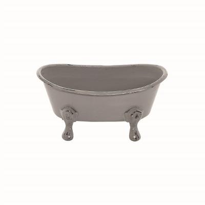 Gray Enamel Bathtub Soap Dish - Foreside Home & Garden