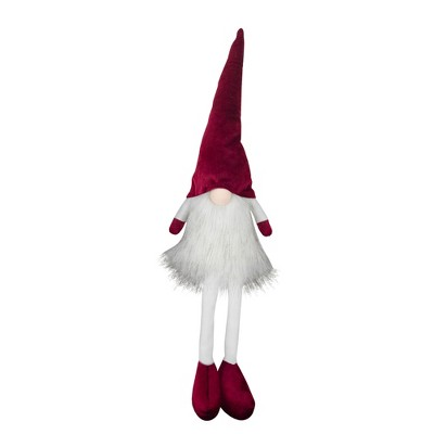 "Northlight 21.5"" Red and White Lighted Gnome Tabletop Christmas Decoration"