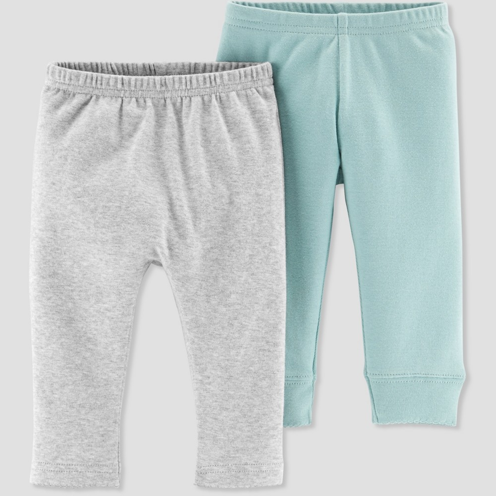 Baby Girls' 2pk Pants - Little Planet by Carter's Turquoise 3M, Blue