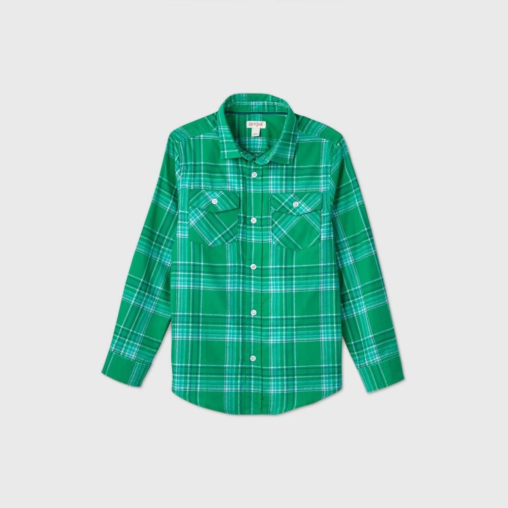 Cheap Boys' Plaid Long Sleeve Button-Down Shirt - Cat & Jack™