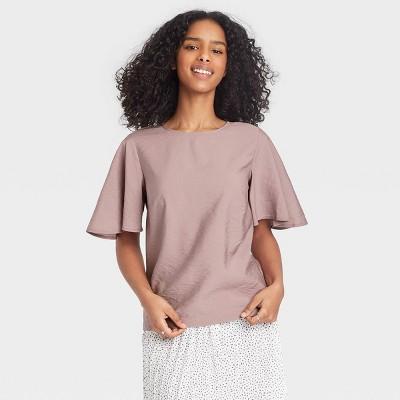 Women's Flutter Short Sleeve Top - A New Day™