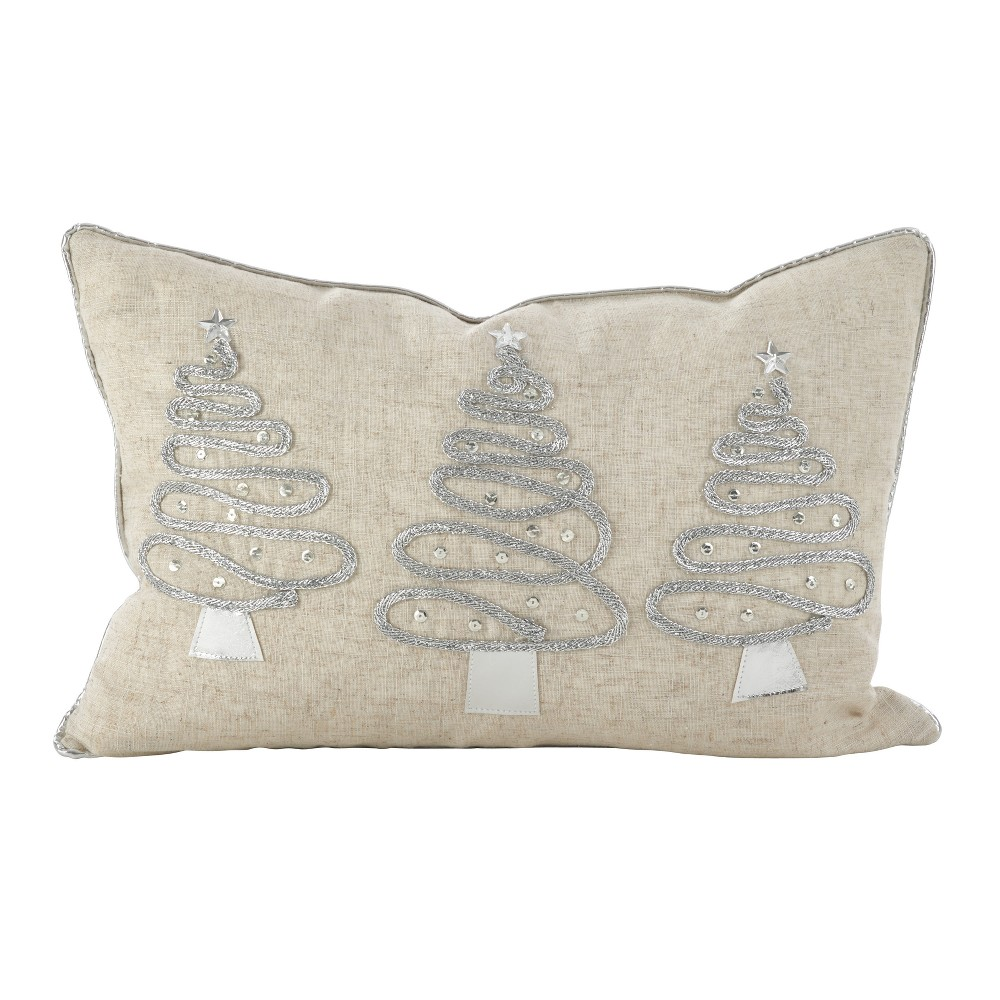 Throw Pillow Saro Lifestyle Shiney Silver