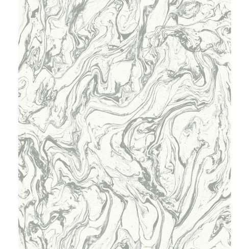 Marble Peel Stick Wallpaper Gray Roommates Target