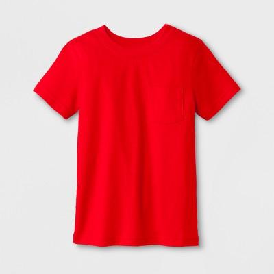 Toddler Boys' Pocket Short Sleeve T-Shirt - Cat & Jack™ Red 4T