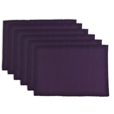 Set of 6 Wine Ribbed Placemat - Design Imports