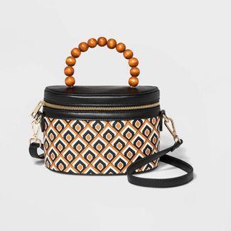 Box Crossbody Bag - A New Day™ Brown/Black