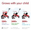 smarTrike Breeze 3 in 1 Baby Toddler Trike Tricycle Bicycle Toy with Parent Control Button, Training Wheels, Basket, Adjustable Handle and Seat, Red - image 3 of 4