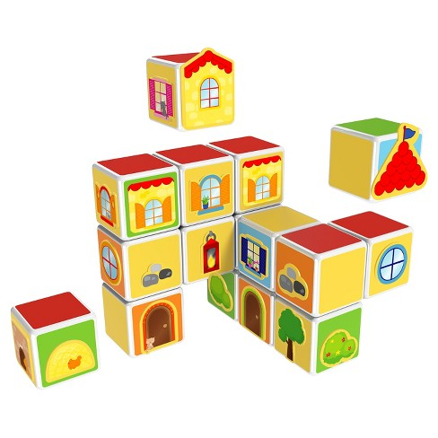 Geomag Magicube - Castles & Homes - 16 Piece Magnetic Building Blocks - image 1 of 4