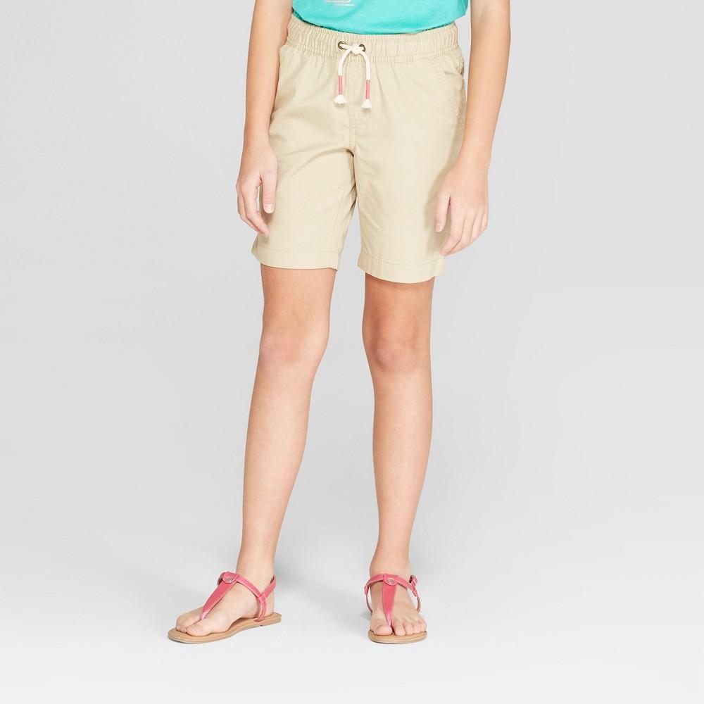 Girls' Bermuda Shorts - Cat & Jack Khaki (Green) XL